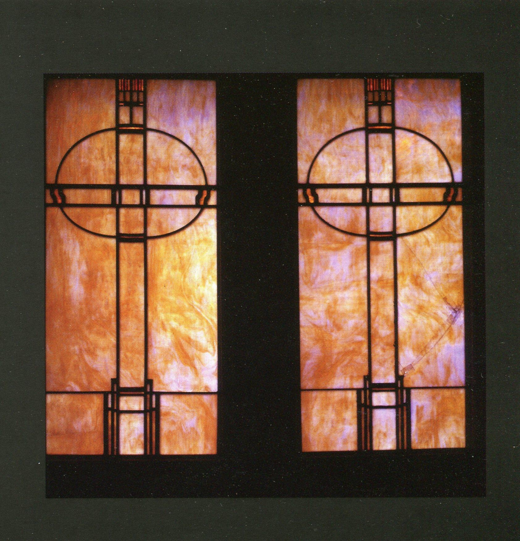 Stained Glass Designs Of Frank Lloyd Wright – Grainger Arts With Frank Lloyd Wright Wall Art (Image 18 of 20)