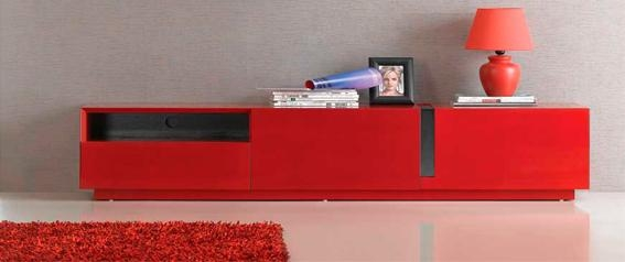 Stand/wall Unit With Most Recent Red Tv Units (Image 17 of 20)