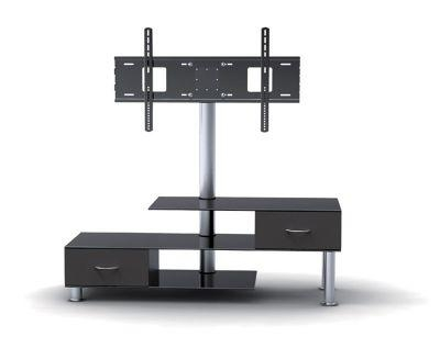 Stand With Bracket And Drawers For Tvs 32 – 55 Inches Intended For Most Up To Date Tv Stands With Bracket (View 10 of 20)