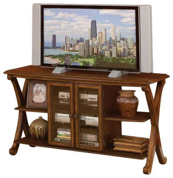 Standard Furniture Barcelona Console Tv Table, Cherry Throughout Most Recently Released Tv Table (Image 13 of 20)
