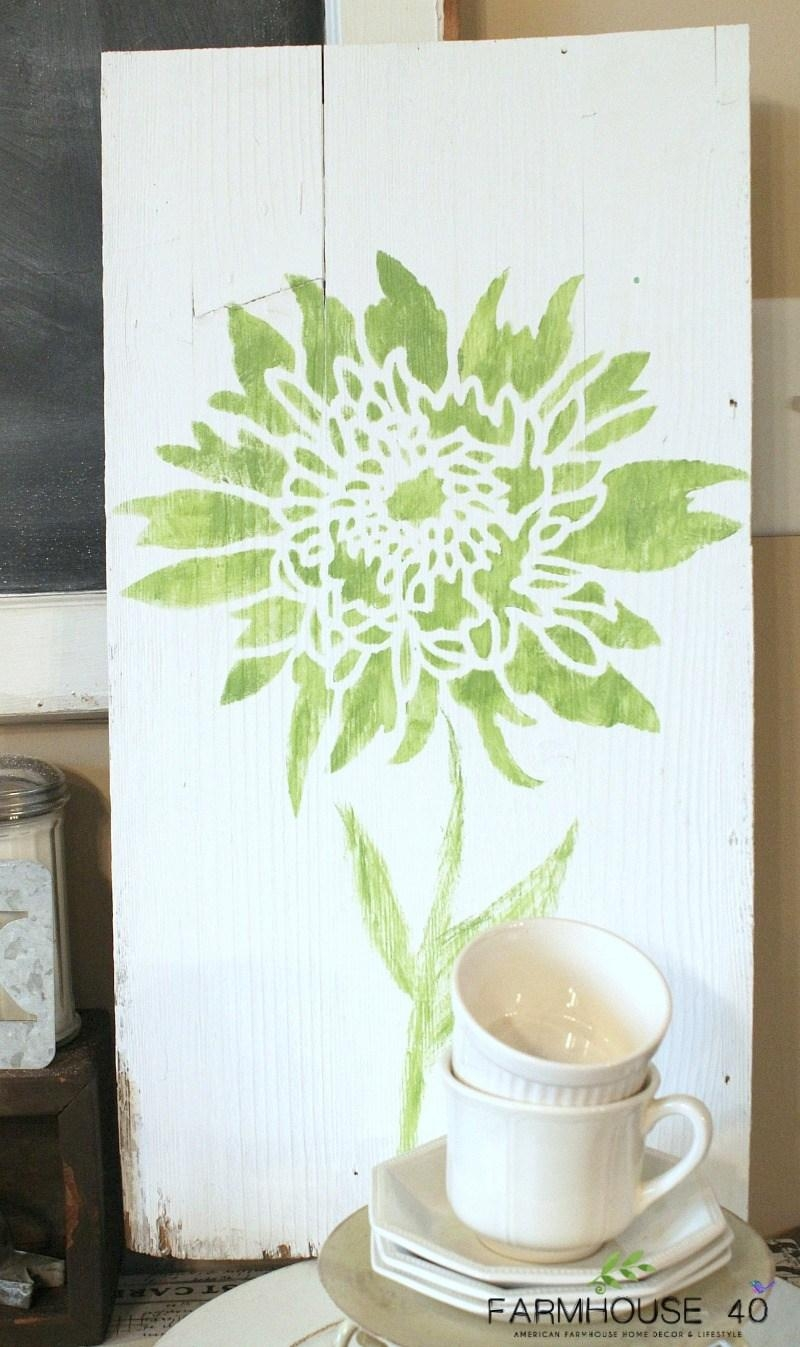 Stencil Design Challenge: Diy Bloggers Complete Upcycled Projects In Stencil Wall Art (Image 15 of 20)