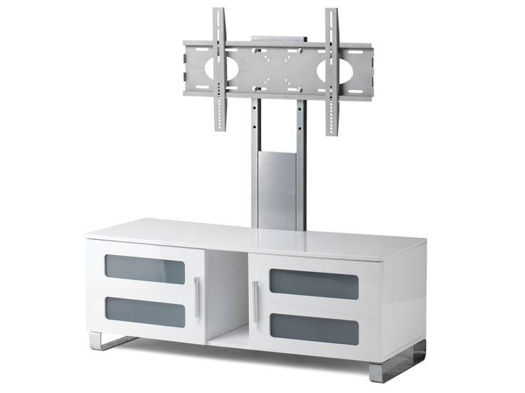 "Stil Stand High Gloss White Cantilever Tv Stand Up To 50"" Stuk2061 Regarding Latest Cantilever Tv (Image 13 of 20)"