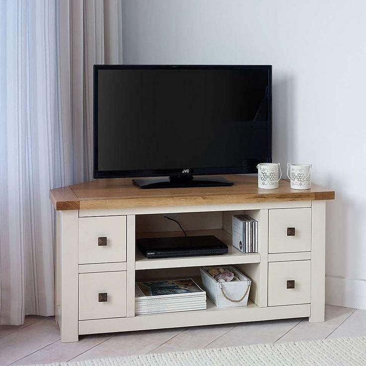Storage Cabinets Ideas : Corner Tv Cabinet Cream Choosing The Intended For Latest Tv Stands Corner Units (View 19 of 20)