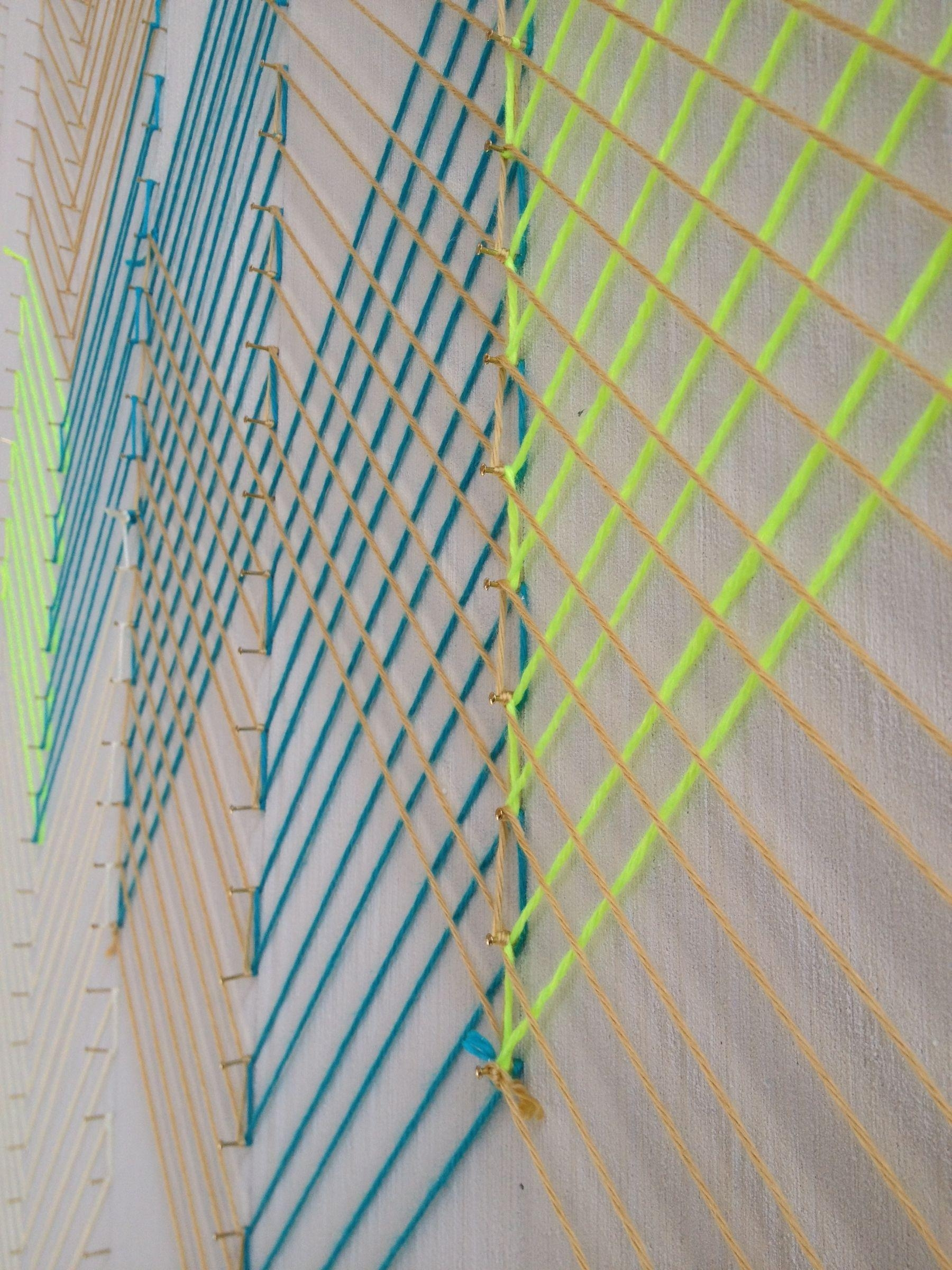 String Art Wall At Sf's New Seed + Salt | Knits For Life Intended For Nail And Yarn Wall Art (Image 13 of 20)
