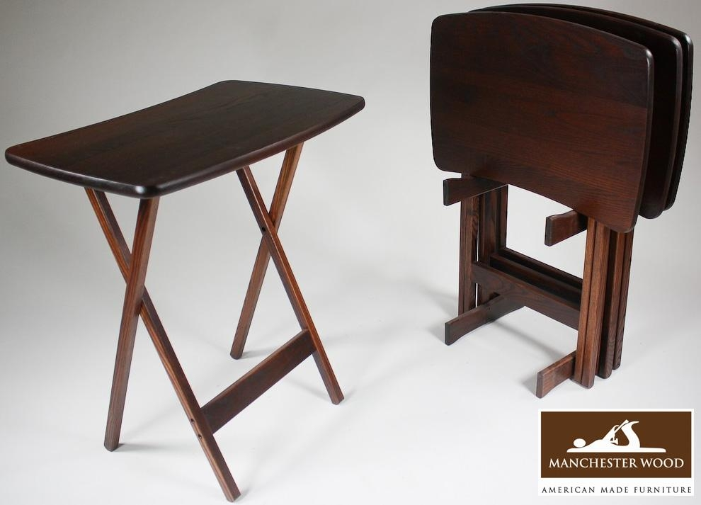 Stunning Folding Tv Tray Table The Best Folding Tv Tables With Most Popular Folding Wooden Tv Tray Tables (View 1 of 20)