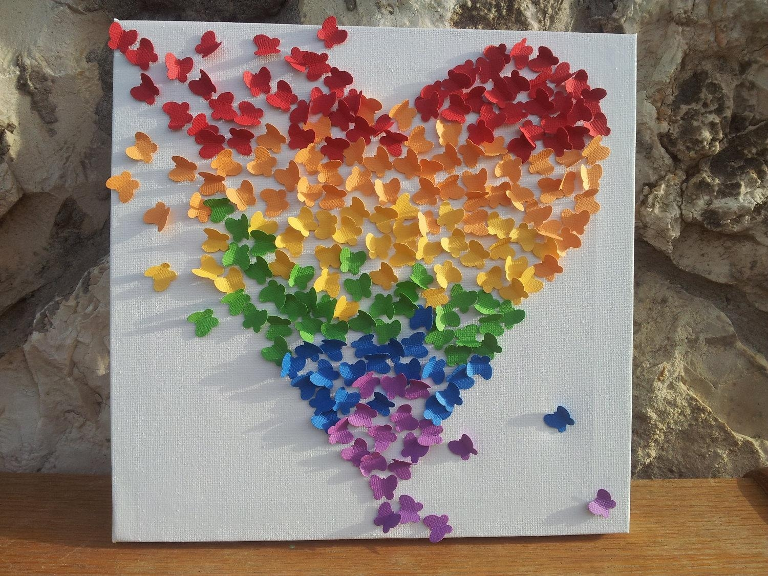 Stunning Rainbow Butterfly Wall Art 50 For Your Moving Waterfall With Moving Waterfall Wall Art (Image 15 of 20)