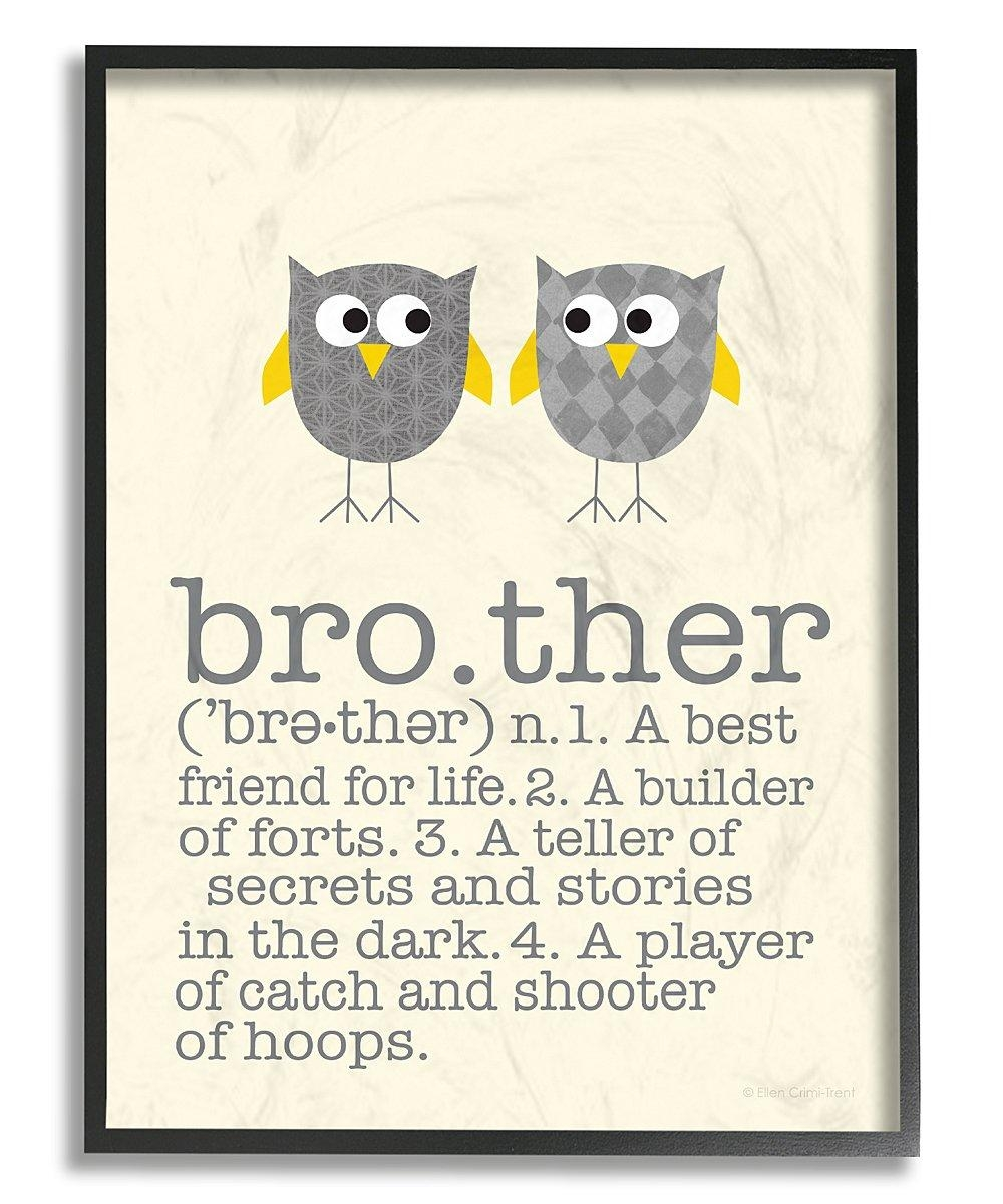 Stupell Industries Gray Brother Definition Wall Art | Zulily With Brother Definition Wall Art (Image 20 of 20)