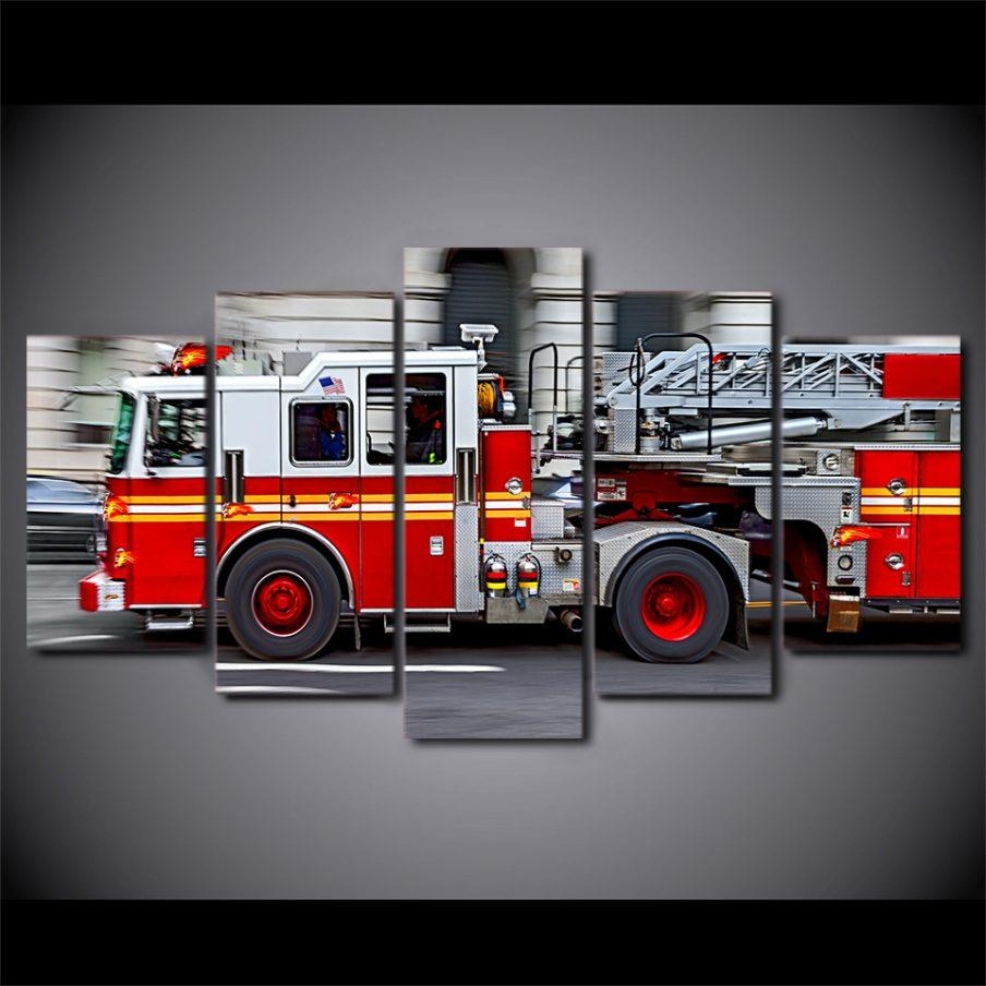 Stupendous Fire Engine Wall Art Patent Electric Fire Engine Wall Pertaining To Fire Truck Wall Art (View 9 of 20)