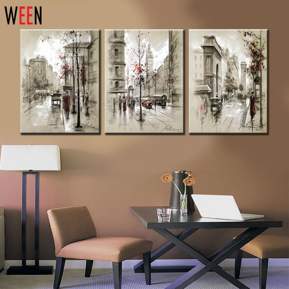 Stylish Design Cheap Framed Wall Art Peachy Oil Painting Canvas Regarding Affordable Framed Wall Art (View 2 of 20)