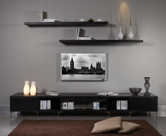 Stylish Tv Wall Unit – Midt Regarding Best And Newest On The Wall Tv Units (View 13 of 20)