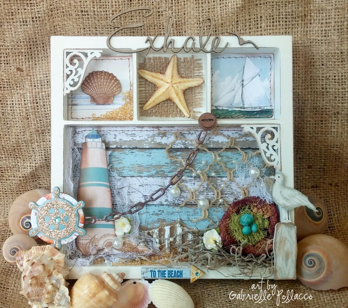 Such A Pretty Mess: Nautical/beach Themed Wall Art {Bobunny Regarding Beach Themed Wall Art (Image 11 of 20)