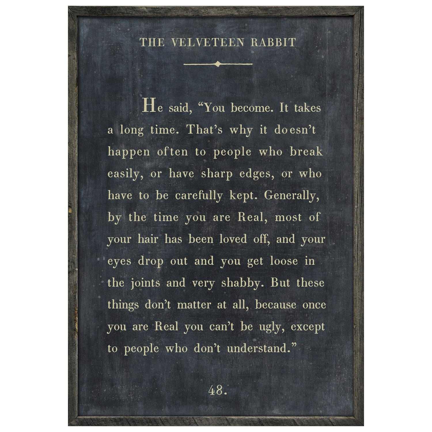 Sugarboo Designs Velveteen Rabbit Art Print Intended For Velveteen Rabbit Wall Art (Image 7 of 20)