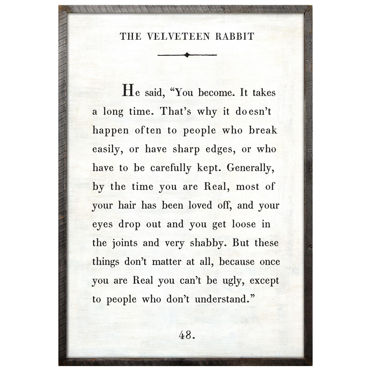 Sugarboo Designs Velveteen Rabbit Art Print Pertaining To Velveteen Rabbit Wall Art (View 16 of 20)