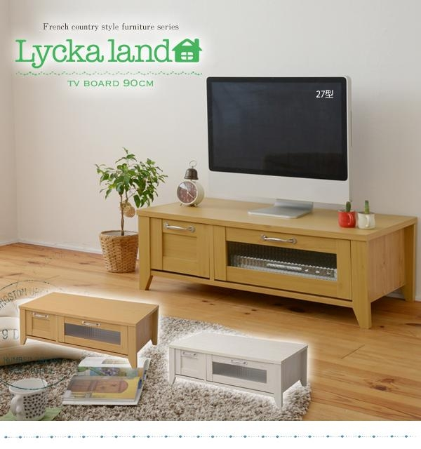 Sugartime | Rakuten Global Market: Lycka Land Tv Stand 90 Cm Width For Newest French Country Tv Stands (View 20 of 20)