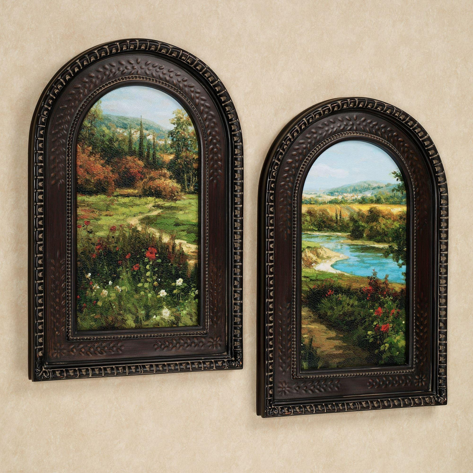 Summer Byway Arched Framed Wall Art Set With Italian Overlook Framed Wall Art Sets (Image 16 of 20)