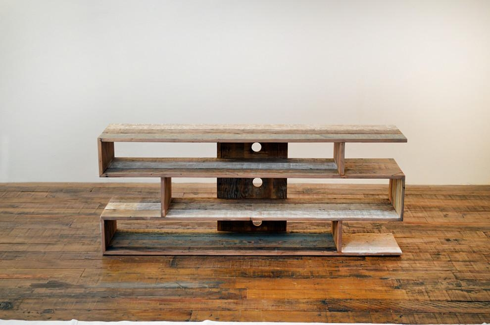 Sumptuous Reclaimed Wood Tv Stand In Living Room Contemporary With Inside Newest Wood Tv Stands (Image 14 of 20)