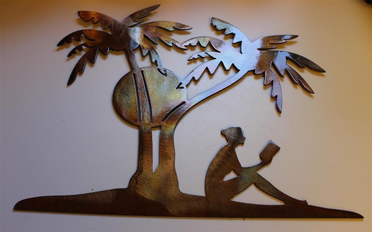 Sunbather 3 Pertaining To Palm Tree Metal Wall Art (View 3 of 20)
