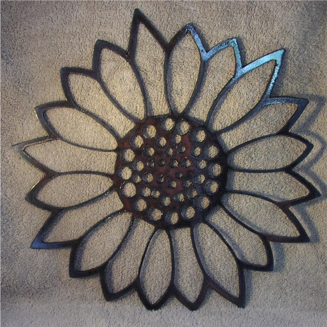 Featured Image of Metal Sunflower Wall Art