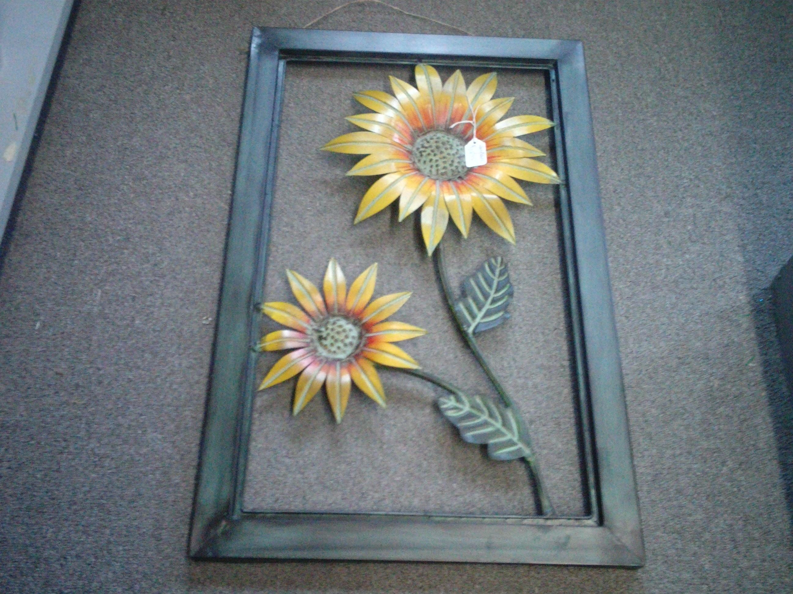 Sunflowers Wall Decor In The Kitchen Intended For Metal Sunflower Wall Art (Image 11 of 20)