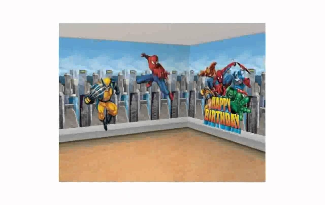 Super Hero Wall Decals [Lilolarada] – Youtube In Superhero Wall Art Stickers (Image 15 of 20)