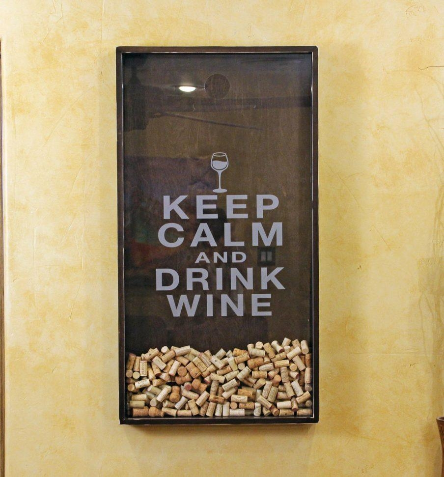 Superb Design Ideas Wine Cork Art Design Decor Wine Cork Holder Intended For Wine Themed Wall Art (Photo 17 of 20)