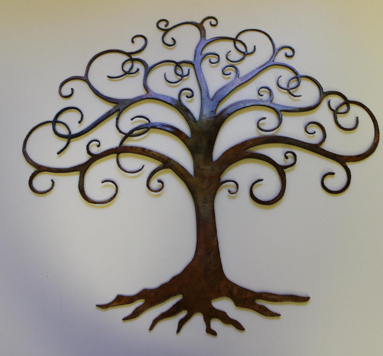 Superb Large Metal Tree Wall Decoration 77 Contemporary 'large Oak Inside Contemporary Large Oak Tree Metal Wall Art (View 10 of 20)
