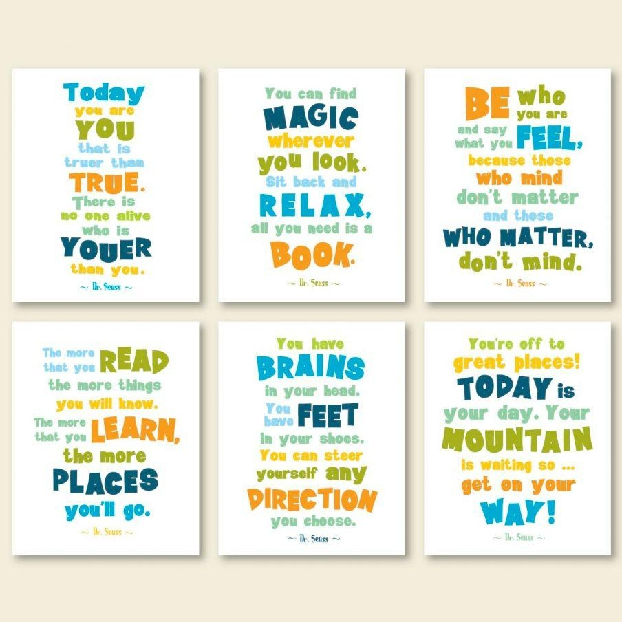 Superb Wall Design Dr Seuss Quote Posters Dr Seuss Wall Art Target In Dr Seuss Canvas Wall Art (View 18 of 20)