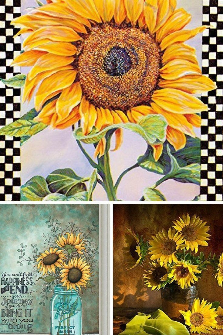 Superb Wall Design Sunflower Home Decor Is Sunflower Wall Art Inside Metal Sunflower Wall Art (View 18 of 20)