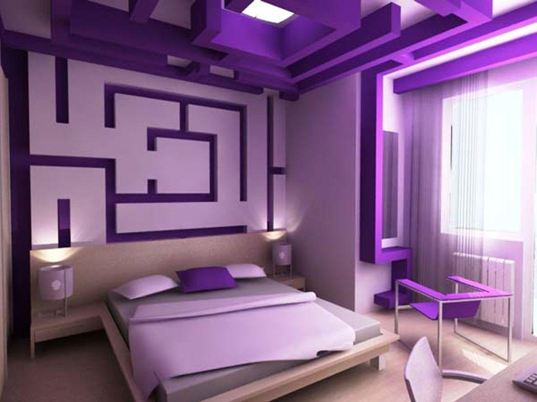 Sweet Purple On Modern Bedroom Design Ideas – Bedroom Inspiration Throughout Purple Wall Art For Bedroom (Image 18 of 20)