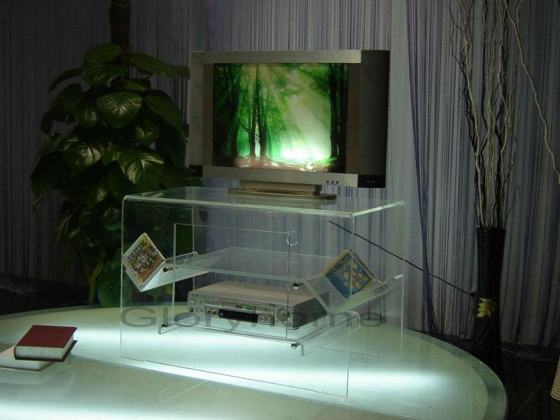 Swivel Acrylic Display Stand For Tv / Acrylic Tv Riser / Acrylic For Newest Swivel Tv Riser (Image 11 of 20)