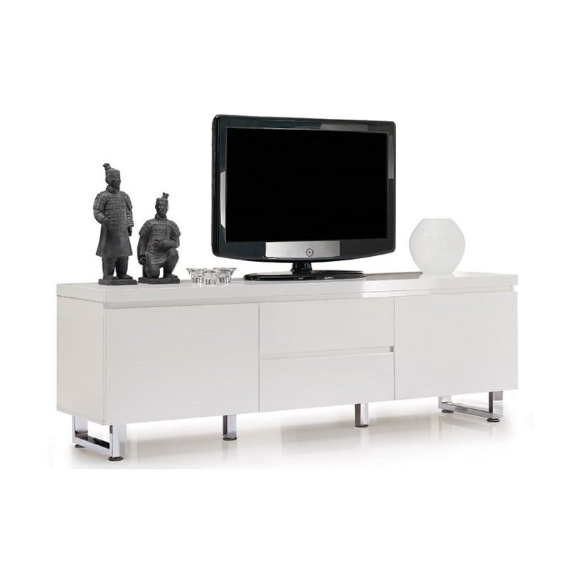 Sydney Iii – High Gloss Tv Unit – Tv Stands – Sena Home Furniture Intended For Best And Newest White High Gloss Tv Stands (Image 18 of 20)
