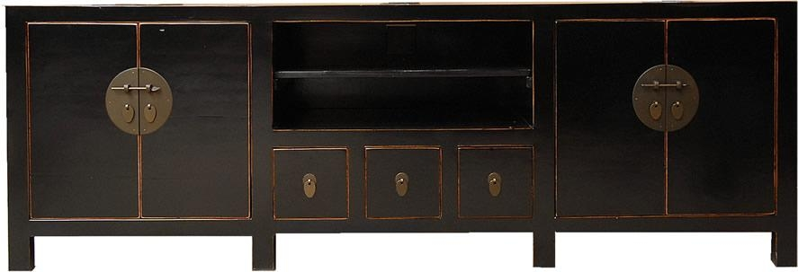 T5343Bl – Lacquered Large Tv Cabinet Within Newest Large Tv Cabinets (Image 18 of 20)