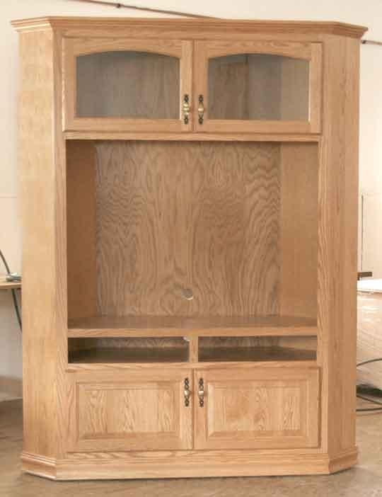 "Tall Corner Tv Cabinet For 40"" Tv – Clear Creek Amish Furniture Within Current Tall Tv Cabinets Corner Unit (View 5 of 20)"