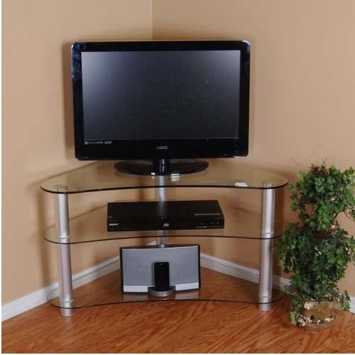 Tall Corner Tv Stand: Designs And Images | Homesfeed Regarding Best And Newest Triangular Tv Stands (Image 20 of 20)