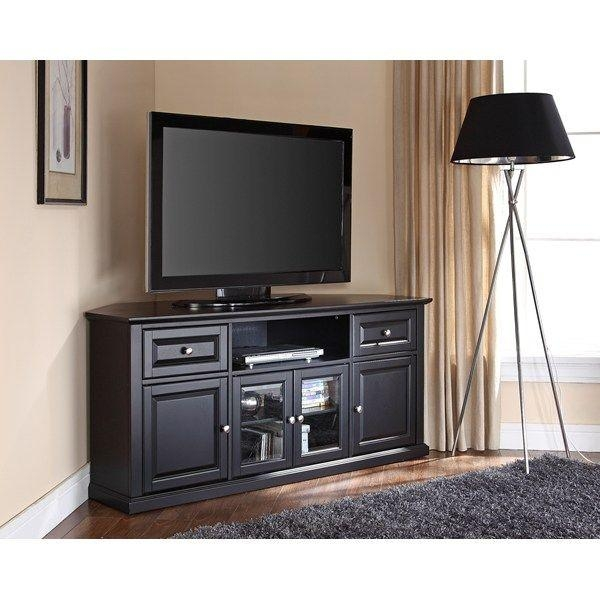 Tall Corner Tv Stand: Designs And Images | Homesfeed Regarding Latest Wooden Tv Stands For 50 Inch Tv (Image 18 of 20)