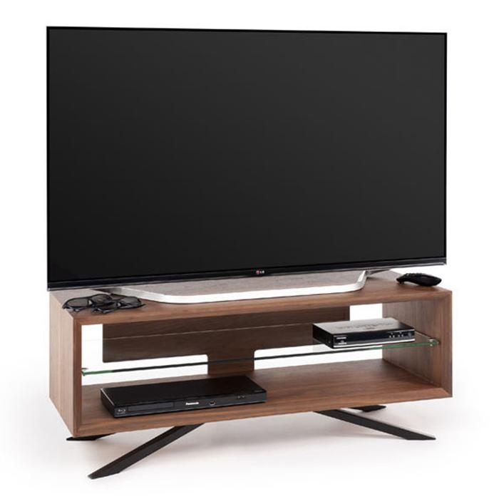 Techlink Aa110W Arena Walnut With Clear Glass Tv Stand – Gerald Giles With Most Popular Techlink Tv Stands Sale (View 19 of 20)
