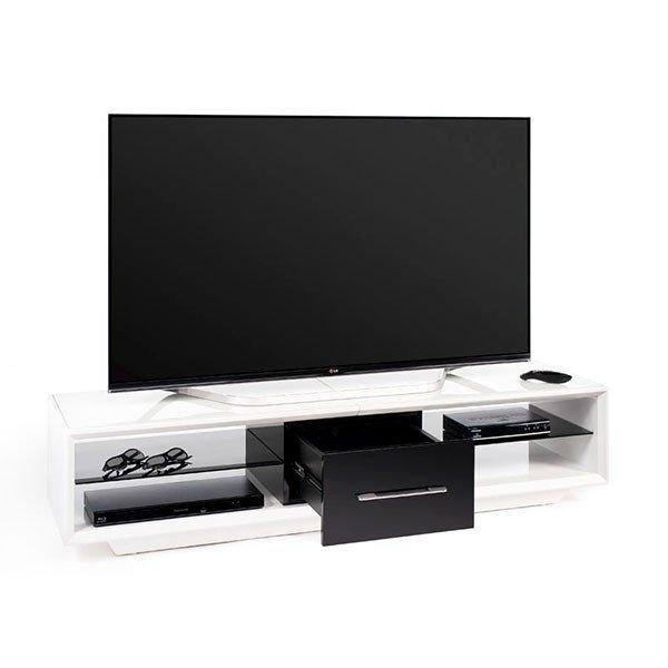 Techlink Aa150Wtb Arena 150 White And Piano Gloss Black Tv Stand Within Most Recent Techlink Arena Tv Stands (Image 13 of 20)
