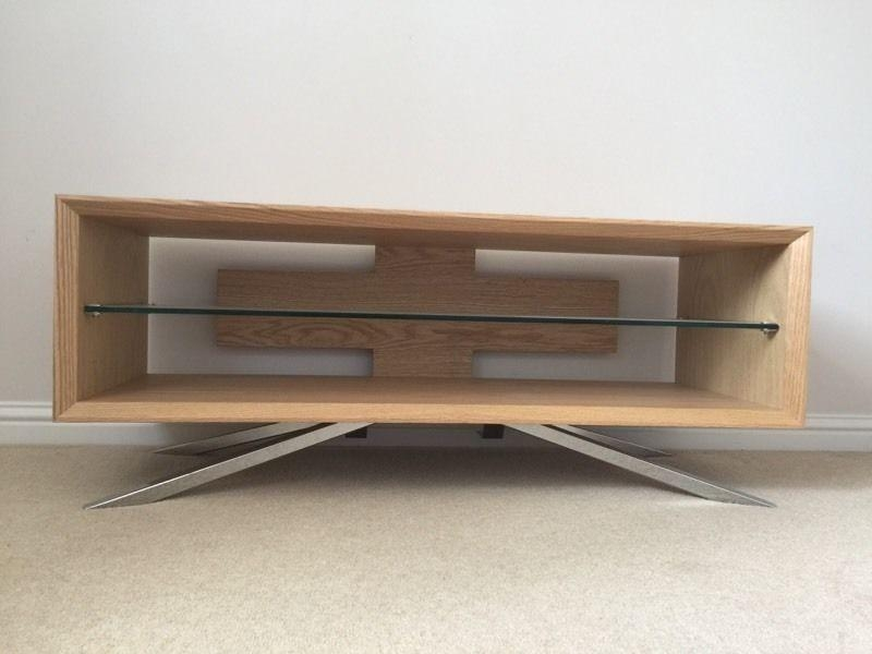 Techlink Arena Tv Stand – Light Oak/silver Stand | In Prestonpans Inside 2018 Techlink Arena Tv Stands (Image 16 of 20)