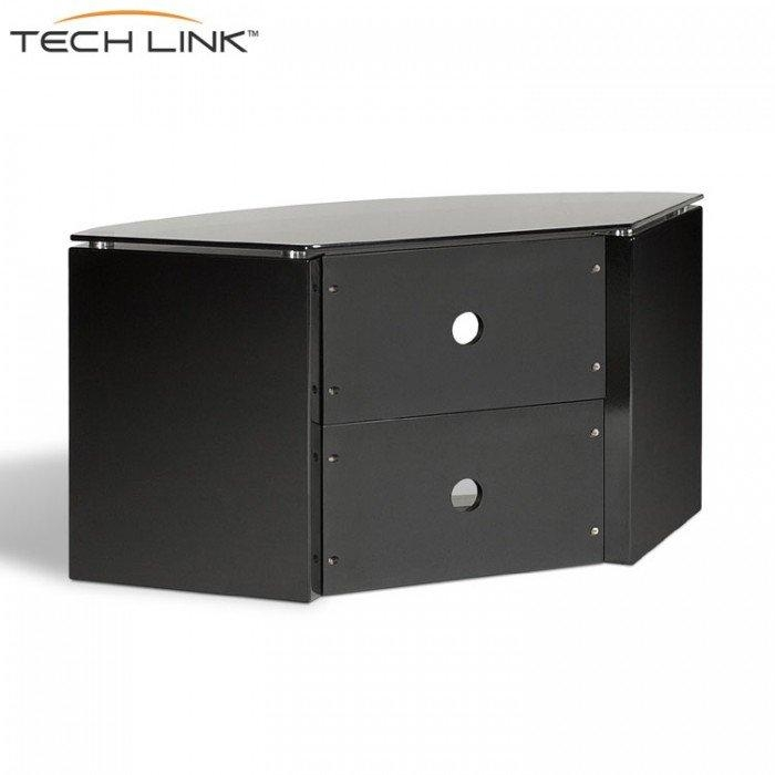 Techlink B6B Bench Piano Gloss Black With Smoked Glass Corner Tv Intended For Best And Newest White Gloss Corner Tv Stand (Image 13 of 20)