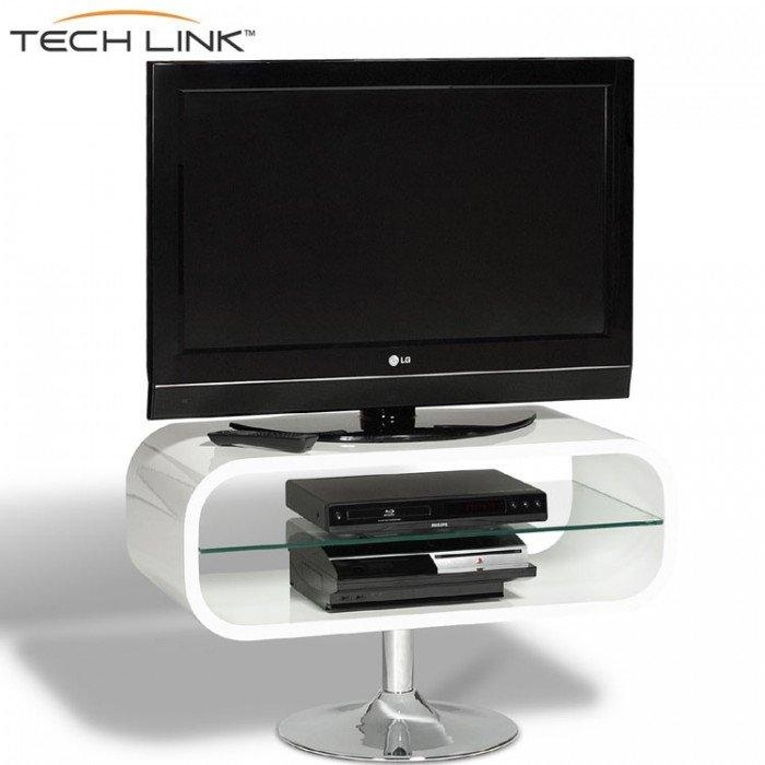 Techlink Op80W Opod Gloss White Tv Stand (406051) For Recent Opod Tv Stand White (Image 1 of 20)