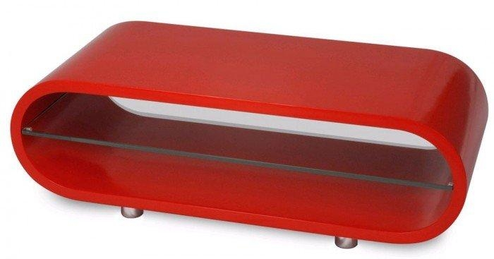 Techlink Ovid Ov95R Gloss Red Tv Stand (406013) For Newest Red Gloss Tv Cabinet (Image 17 of 20)