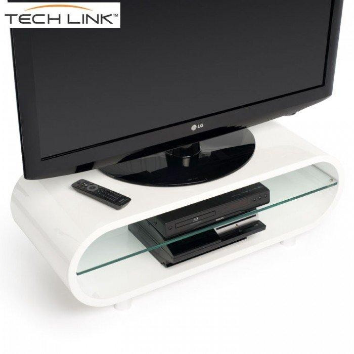 Techlink Ovid Ov95W Gloss White Tv Stand (406011) Regarding Most Recently Released Ovid White Tv Stand (View 9 of 20)