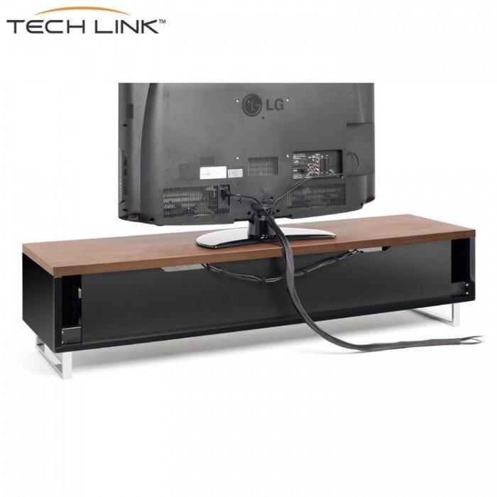 Techlink Pm160W Panorama Piano Gloss Black And Walnut Large Tv With Regard To Most Up To Date Techlink Panorama Walnut Tv Stand (Image 19 of 20)