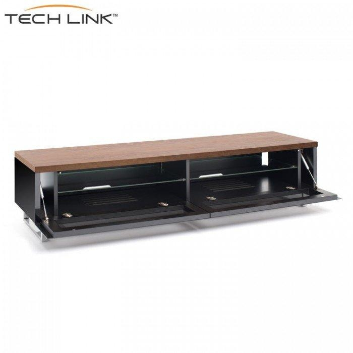 Techlink Pm160W Panorama Piano Gloss Black And Walnut Large Tv With Regard To Recent Techlink Tv Stands (Image 15 of 20)