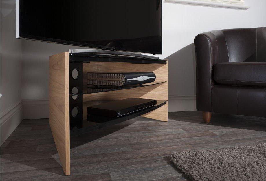 """Techlink Riva Light Oak/black Tv Stand For Up To 50"""" Intended For Newest Techlink Riva Tv Stands (View 7 of 20)"""