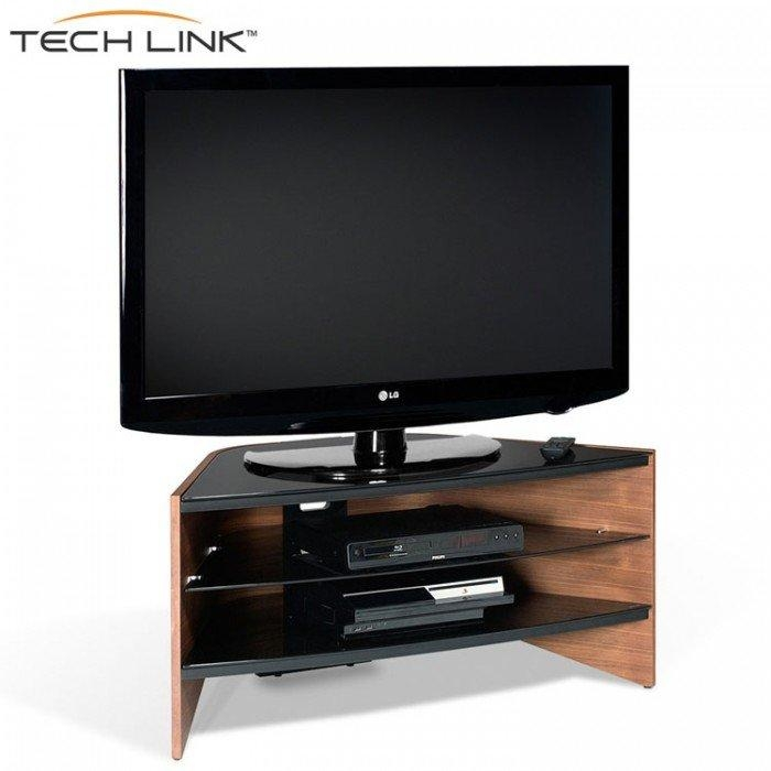 Techlink Rv100W Riva Corner Tv Stand In Walnut And Black Glass Intended For Best And Newest Techlink Riva Tv Stands (Image 13 of 20)