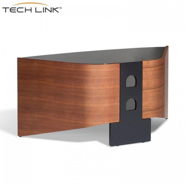 Techlink Rv100W Riva Corner Tv Stand In Walnut And Black Glass Intended For Most Up To Date Walnut Corner Tv Stands (View 5 of 20)