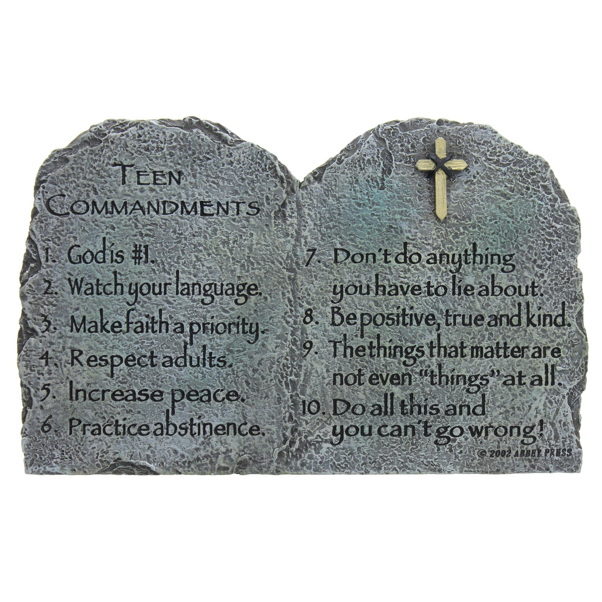 Teen Commandments | The Catholic Company Throughout 10 Commandments Wall Art (Image 13 of 20)