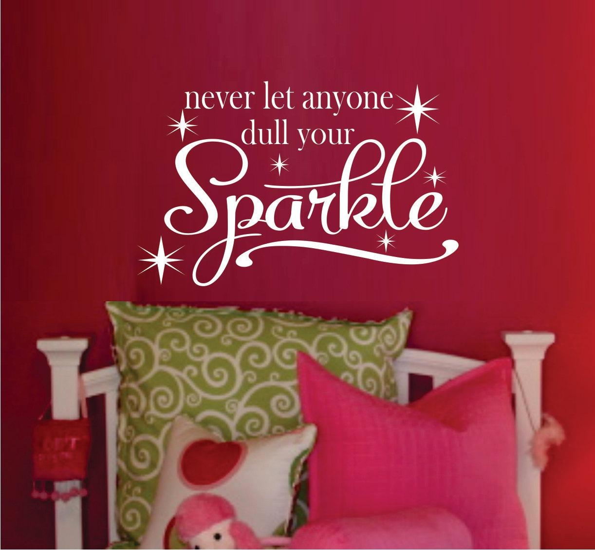 Teen Girl Wall Decal Bedroom Vinyl Wall Decal Bathroom Throughout Wall Art For Teenage Girl Bedrooms (Image 16 of 20)