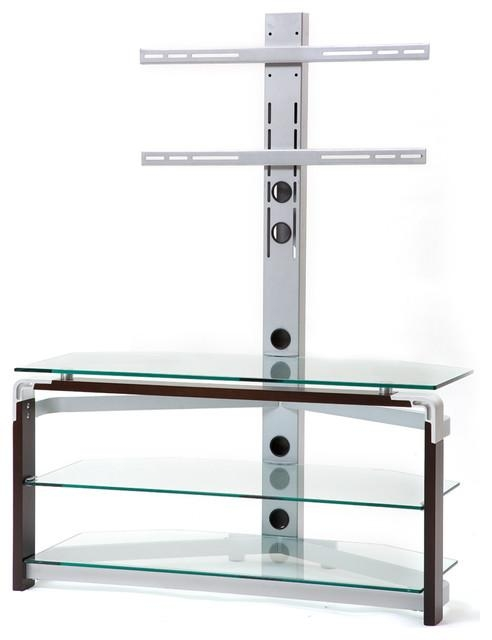 Tempered Glass Tv Stand – Modern – Entertainment Centers And Tv For 2017 Glass Tv Stands (Image 17 of 20)
